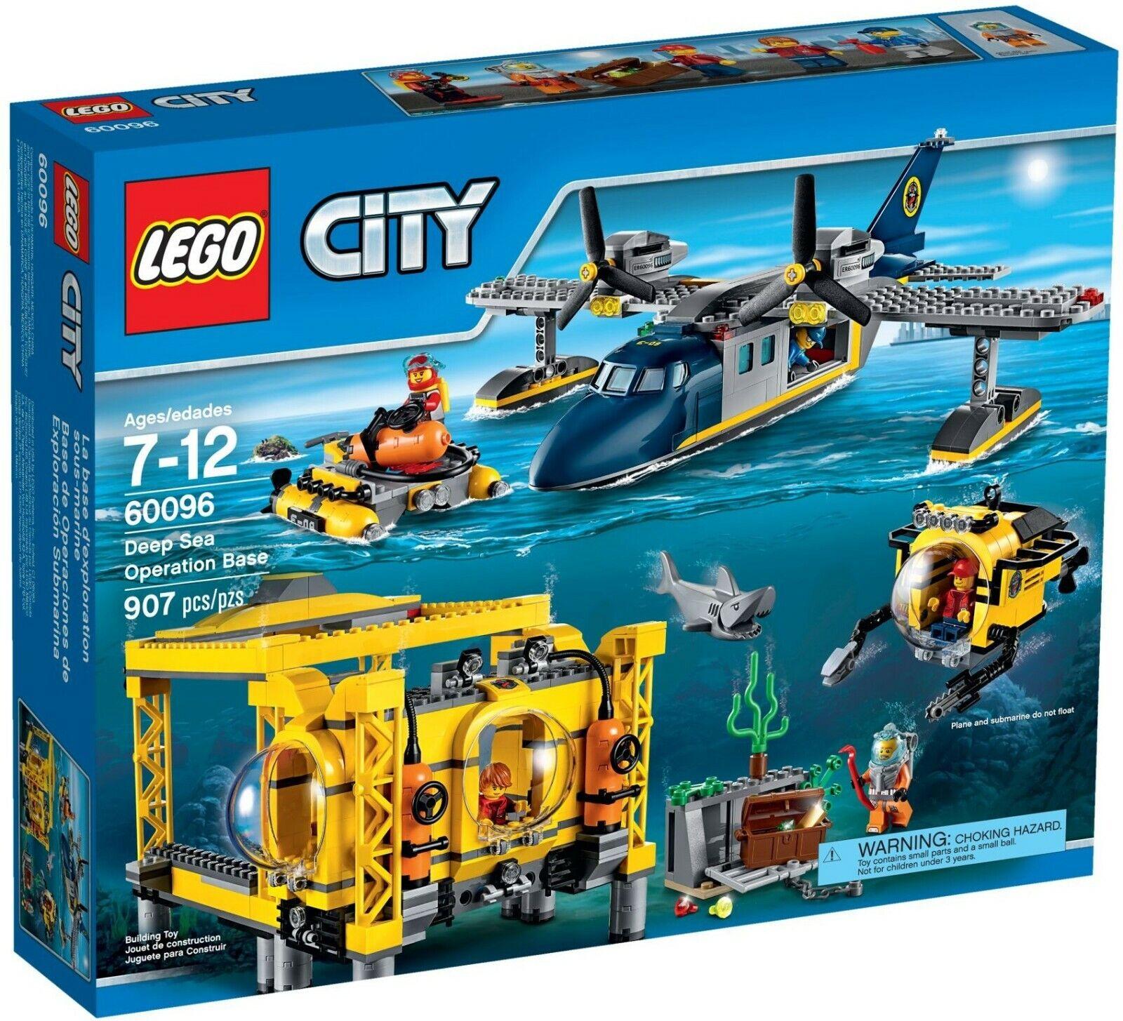 LEGO 60096 City Deep Deep Deep Sea Operation Base - Brand New Sealed, Retired, Rare 7b6b6d