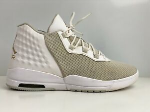 Nike Jordan Academy da uomo bianca Mesh Sneaker UK 7