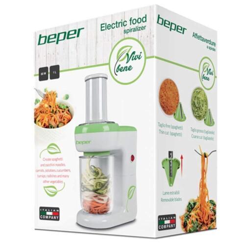 Affettaverdure Affetta Verdure a Spirale 80w Preparazione Cibo Cucina Beper