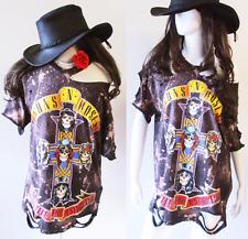 Guns N Roses bleached distressed shirt dress S-XL Appetite for Destruction