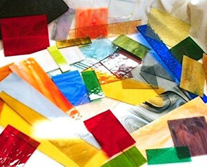9+ POUNDS PREMIUM Stained Glass Scrap Large Pieces for Glass Art & Mosaic Tiles