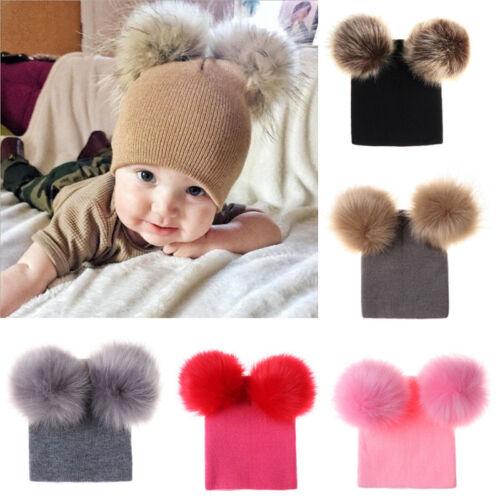 Toddler Kid Girl/&Boy Winter Warm Crochet Knitted Pom Hat Infant Baby Beanie Cap