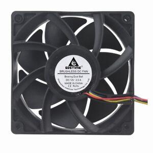 10Pcs Ball Bearing 12V 4pin PWM FG 120mm 120x120x38mm Computer Case Cooling Fan