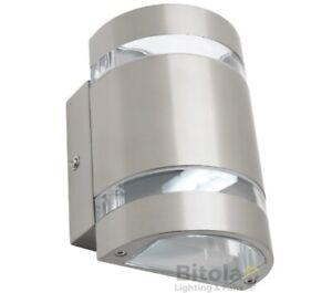 Mercator Karratha 6w Led Up Down 316 Stainless Steel Outdoor Wall Light Mx4412r Ebay