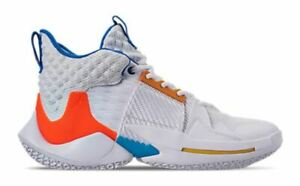 Nike-Air-Jordan-Why-Not-Zer0-2-Trainers-Sneakers-White-Blue-Crimson-Size-6-UK
