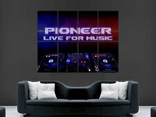 PIONEER DJ MUSIC CDJ MIXING CLUBBING  ART WALL LARGE IMAGE GIANT POSTER