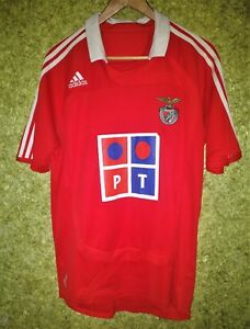 newest 713ee 02f82 Details about SL BENFICA 2006 2007 ADIDAS HOME FOOTBALL SOCCER SHIRT JERSEY  CAMISETA SIZE M