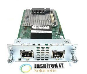 NIM-2MFT-T1-E1-Cisco-2-port-Multi-flex-Trunk-Voice-Clear-channel-Data-T1-E1