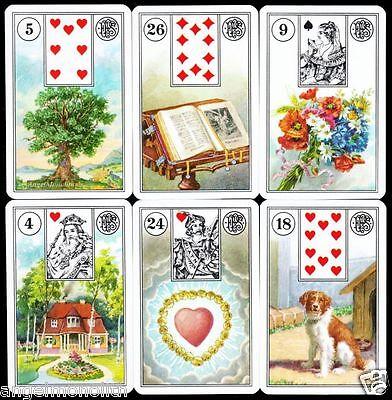 Karten Mrs. Lenormand Version um1895 Orakel Wahrsage Zigeuner Tarot Kartenlegen
