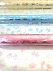 Baby Design Cellophane Wrap Various Lengths And Colour Perfect For