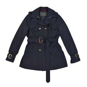 buy online df9f8 44753 Details zu ESPRIT Damen Trenchcoat M 38 Mantel dunkel blau Woman Jacket  Cardigan Jacke NEU