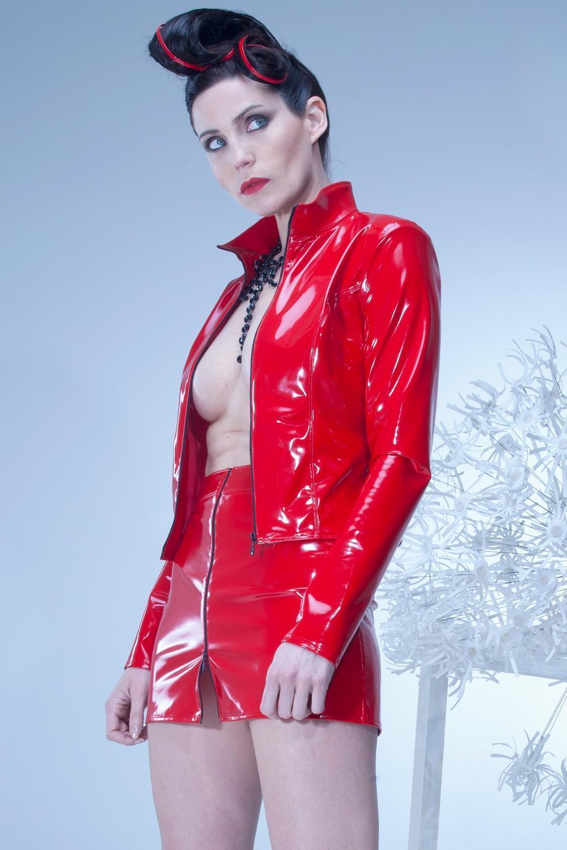 ♥ MINI JUPE SEXY size HAUTE VINYLE red ♦ PATRICE CATANZARO ♦ S au XXL ♥