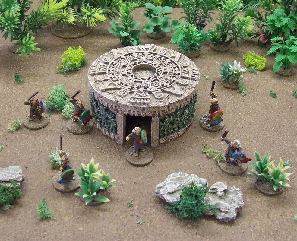 Mesoamericano-Azteca-MAYA - 'santuario' - Pre Pintado terreno 28mm