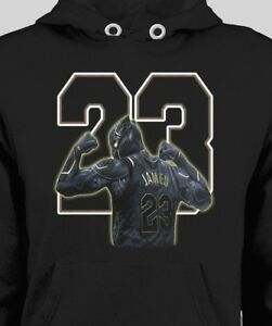 655d2101a27 Image is loading L-A-LAKERS-LEBRON-JAMES-BLACK-PANTHER-PARODY-HOODIE-