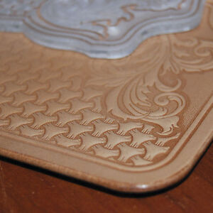 COOL-SHERIDAN-STYLE-Leather-Embossing-Plate-For-stamping-VegTan-Tooling-Leather