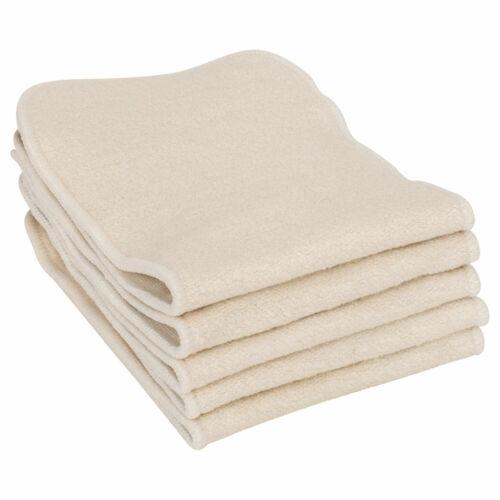 EARTHTOPIA Waschbare Windeleinlagen aus Hanf und Baumwolle Stoffwindeln 5 Stück