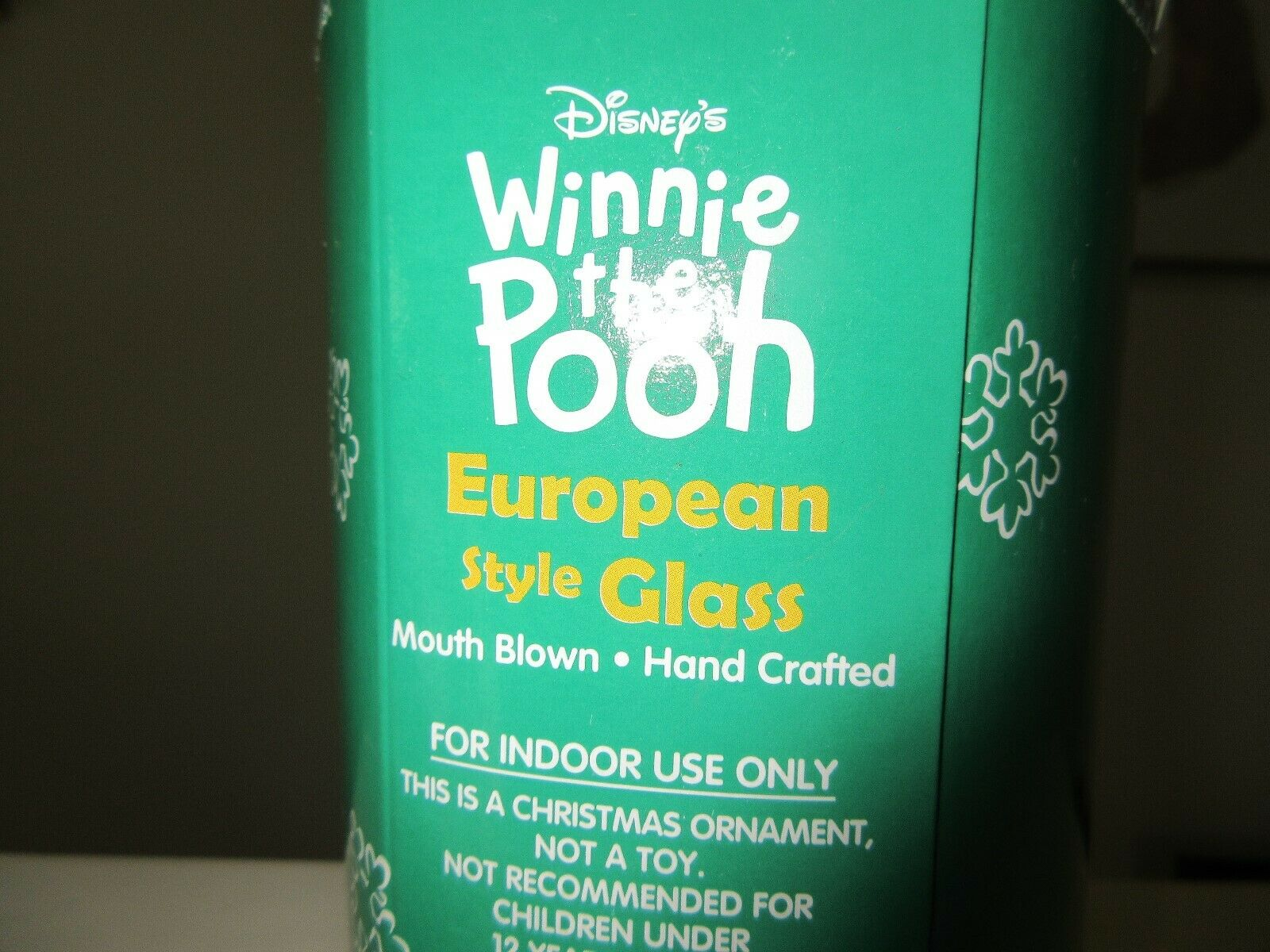 Disney , Winnie The Pooh , European Style Glass ,Mouth