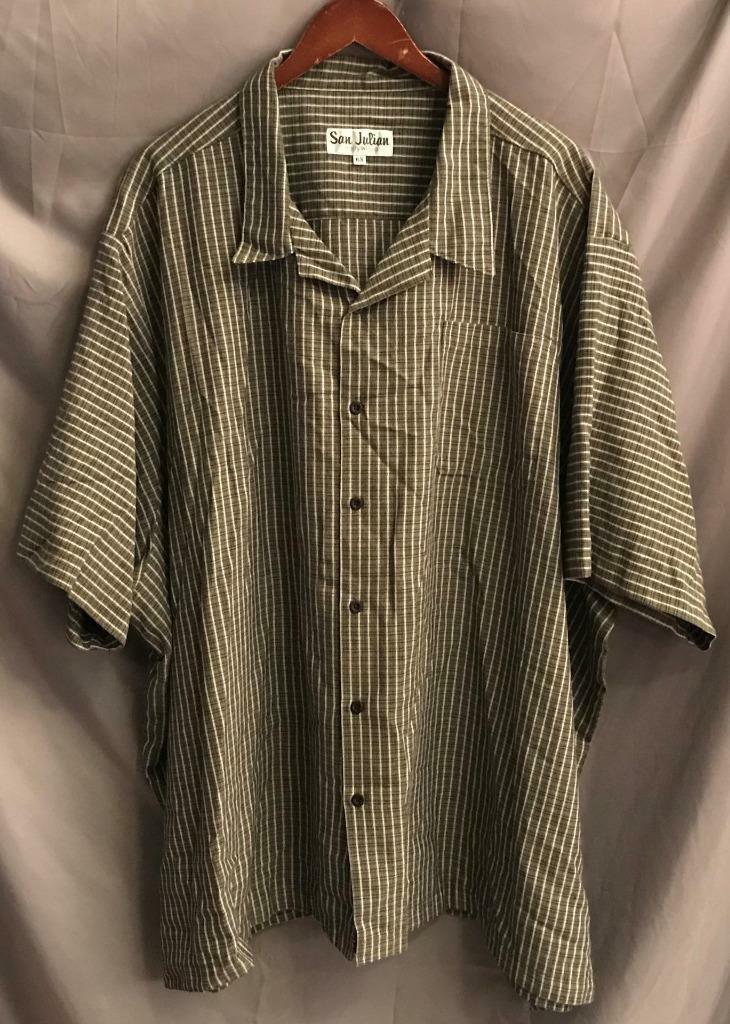 dd41713f San Julian Men's 6X In USA Viscose Blend BF SS Camp Hawaiian VTG Shirt Made  Size nprrdt4153-Casual Shirts & Tops