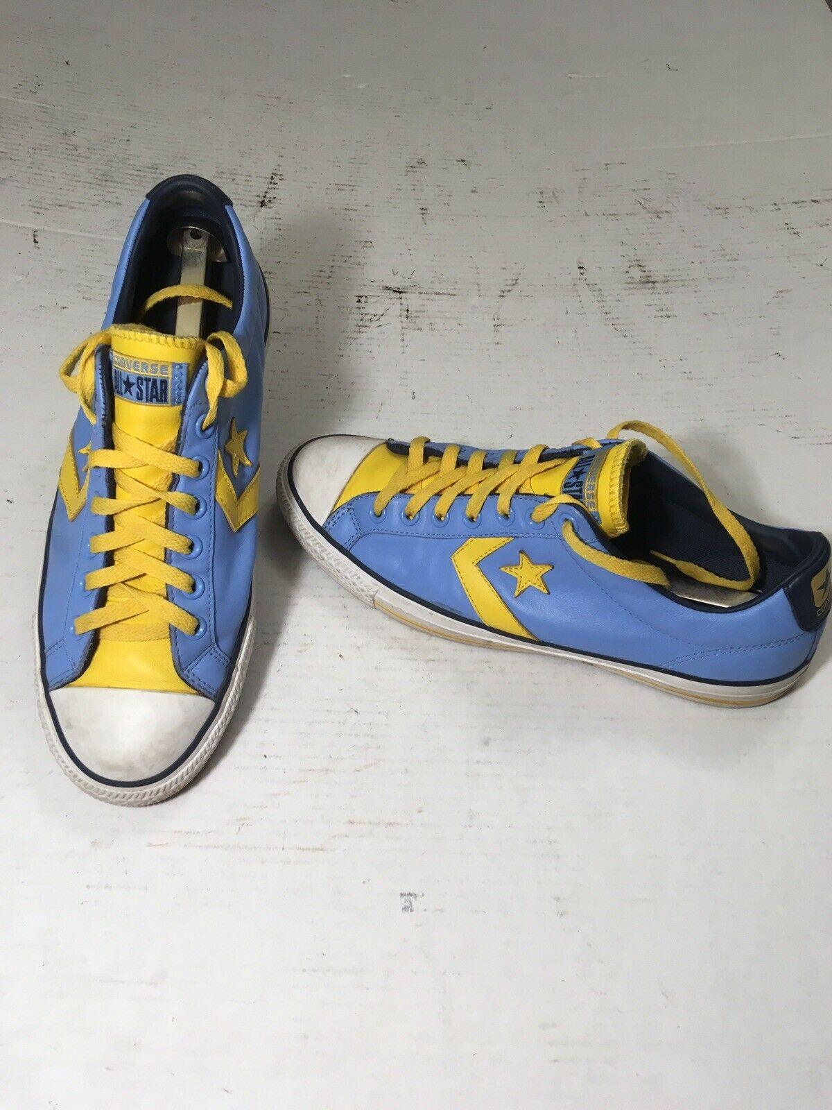 Converse Star Player EV 136771C Classic bluee Leather shoes Sz 10 Mens, 12 Womens