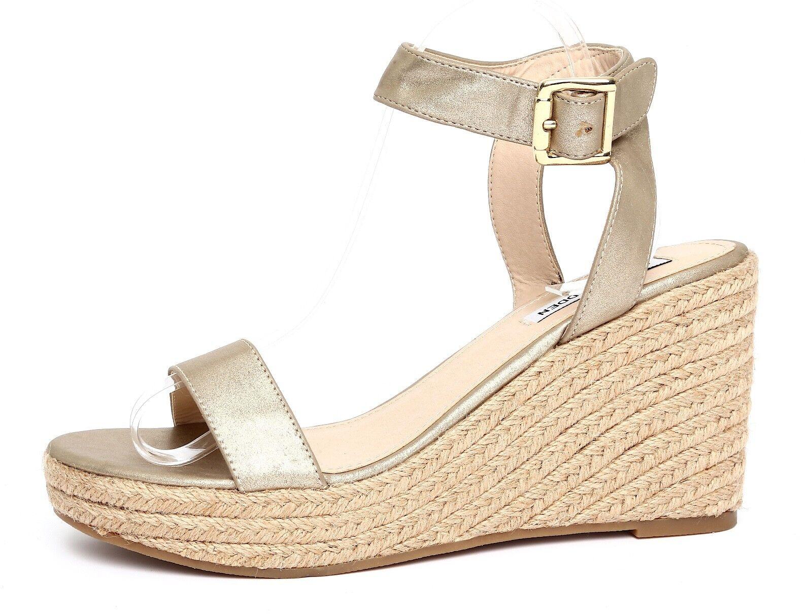 Steve Madden Seaside femmes Metallic or Wedge Sandals Sz 10M 4328