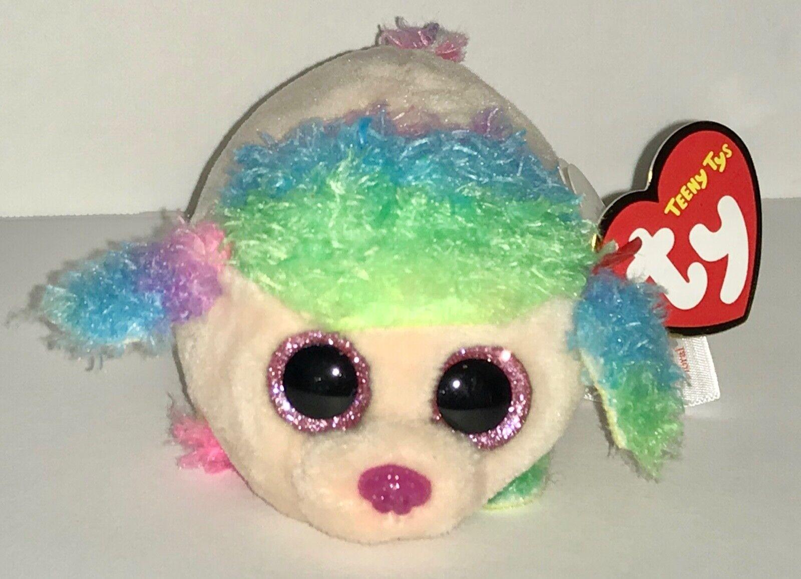 "3.2/"" Teeny Beanie Boos Ty Plush Doll Stuffed Toys Soft Animal Ornament Purple"