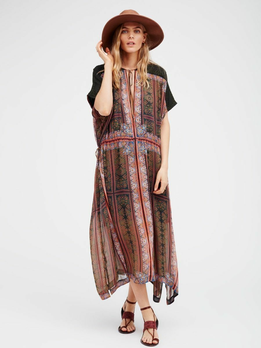 fri människor Gardenia Fog Maxi Dress -XS - 248 MSRP