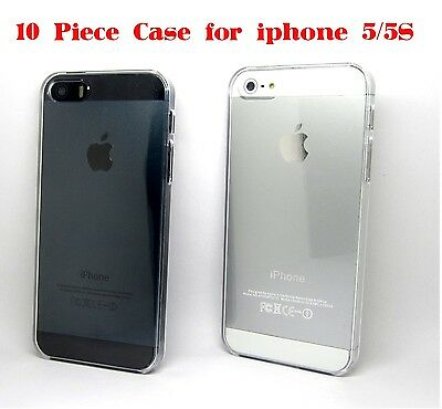 Best lot 10 piece Clear Transparent See Through Hard Case Cover For iPhone 5 5S