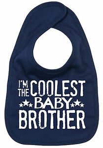 Little-Brother-Bib-034-I-039-m-the-Coolest-Baby-Brother-034-Baby-Feeding-Time-Newborn-Gift