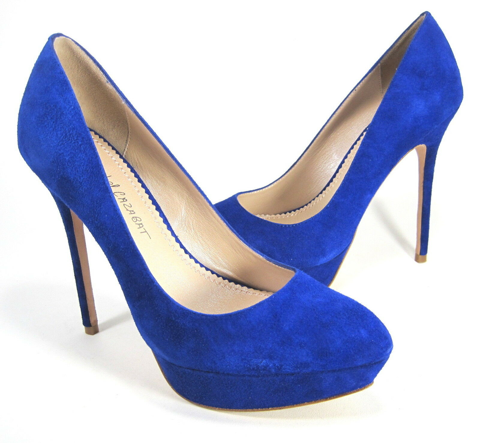JEAN-MICHEL CAZABAT WOMEN'S LENNOX PUMP COBALT LEATHER EUR 39 US SZ 9 MEDIUM