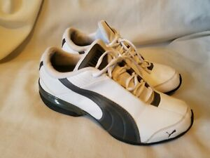 Para hombres Cuero Gris Blanco PUMA Sport Lifestyle Tenis ...