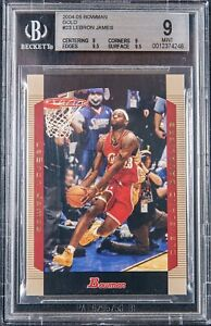 2004-05 LeBron James TOPPS BOWMAN GOLD #23 BGS 9 w/ 2 9.5 subs, .5 from Gem Mint