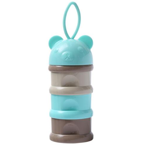 Milchpulver Portionierer Milch Behälter Babyflasche Zubehör 3 Fächer Blau