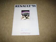 Renault 5, 19, 21, 25, Espace, Alpine Prospekt Brochure 1/1991, 40 Seiten