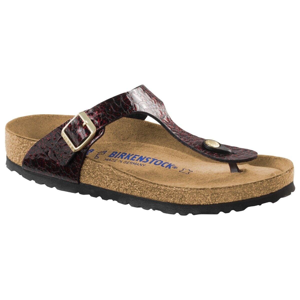 f71d60778a21 Birkenstock Gizeh Birko Weite Flor Weichbettung Schuhe Sandale Weite Birko  normal 1006622 11dd0c