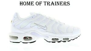 55eb443c379b Nike Air Max Plus Tuned 1 TN Triple White Men s Trainers All Sizes ...