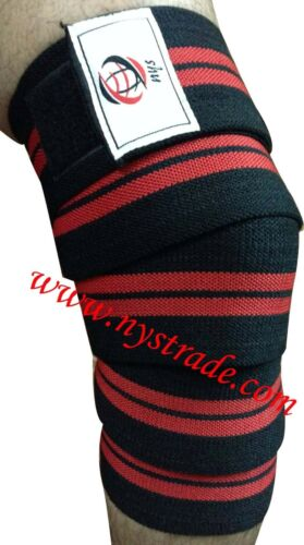 Weight Lifting Knee Wraps For Power-lifting Bodybuilding Gym Training etc.