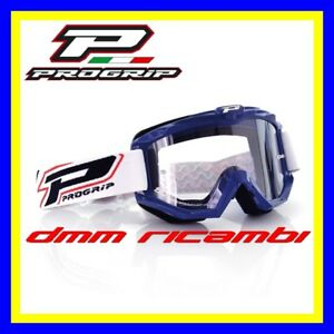 Occhiali-PROGRIP-3201-Cross-Enduro-Motard-ATV-Quad-PitBike-Bici-MTB-DH-Blu