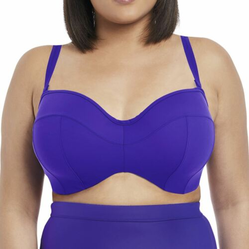Elomi Swimwear Essentials Underwired Bandeau Bikini Top Indigo 7532
