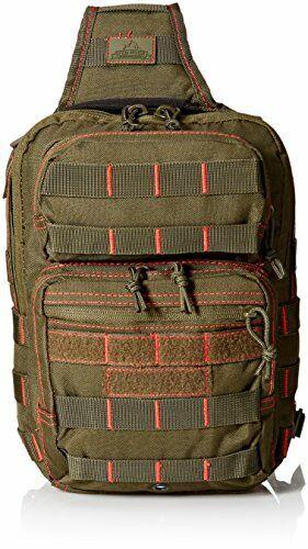 Tactical EDC Sling Bag w  Ambidextrous Shoulder Strap & MOLLE Webbing Platform