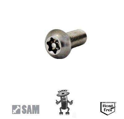10 Stück M8X40 Linsenkopf Sicherheitsschraube Torx+Pin rostfrei A2