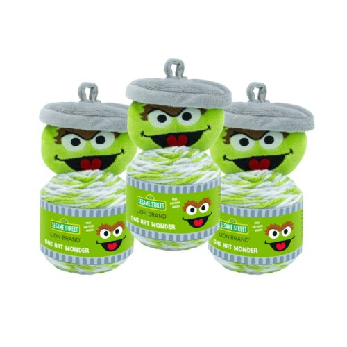 Pack of 3 Oscar Lion Brand Yarn 3010-503 Sesame Street One Hat Wonder Yarn