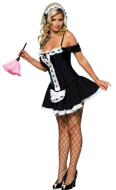 Dust Bunny French Maid Upstairs Chamber Fancy Dress Halloween Sexy Adult Costume