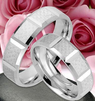 GroßZüGig 2 Ringe Trauringe Eheringe Verlobungsringe , Silber 925 , Gravur Gratis - Jk57