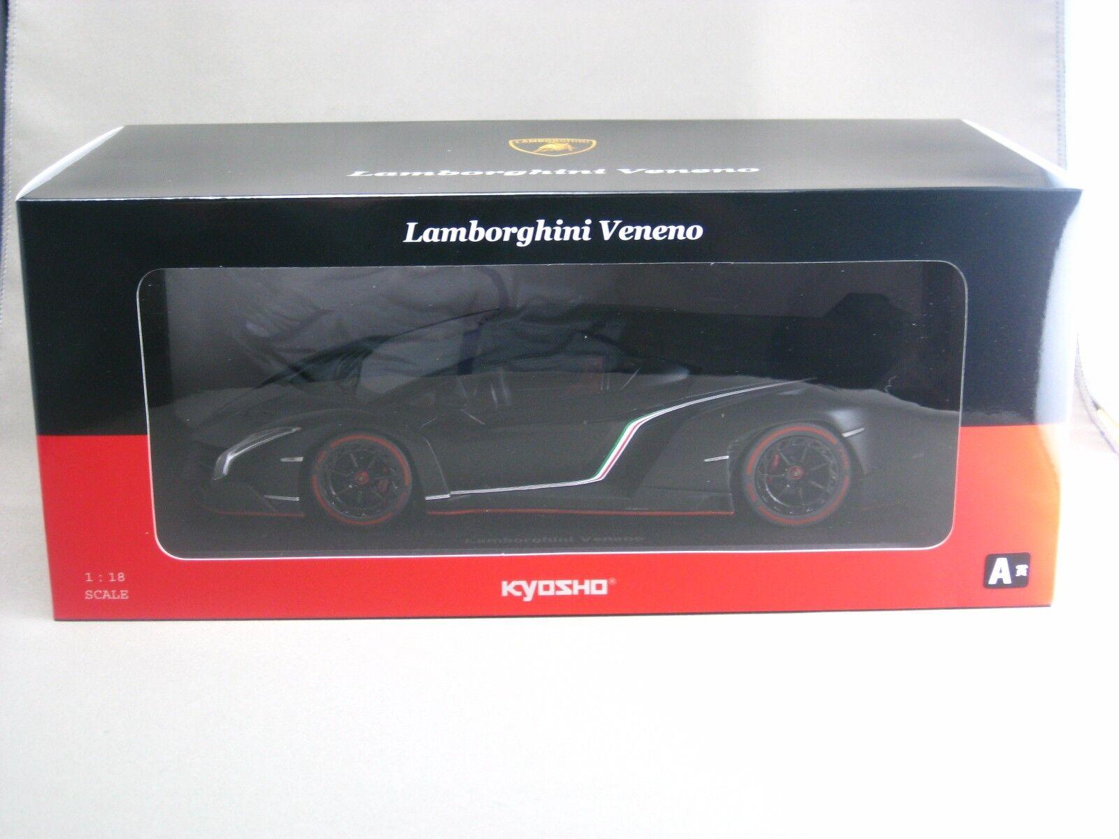 Lamborghini Veneno Black Kyosho 1 18 Diecast Model Car A Award