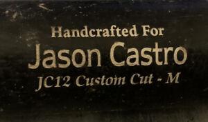TWINS-JASON-CASTRO-MARUCCI-BAT-GAME-USED-PERSONAL-BAT-CRACKED-RARE