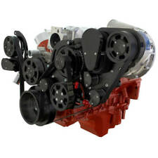 Cvf Chevy Ls Engine Procharger P1x Serpentine Kit With Alternator And Ac Black