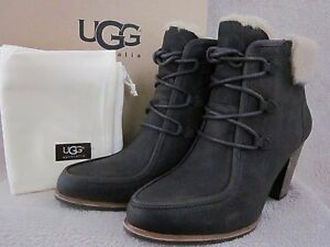 1b428dc46af Details about UGG Australia Analise 1008741 Brown Lodge Leather Boots Shoes  US 8 EUR 39 NWB