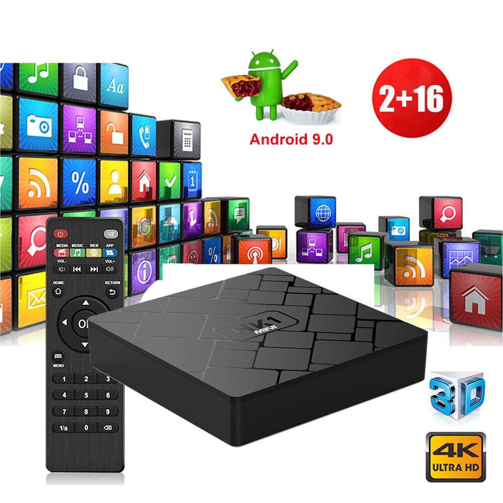 NEW 2+16G Quad Core Android 9.0 Pie Smart TV BOX 4K Streaming WIFI HDMI 2.0 USA android box core hdmi new pie quad smart streaming wifi