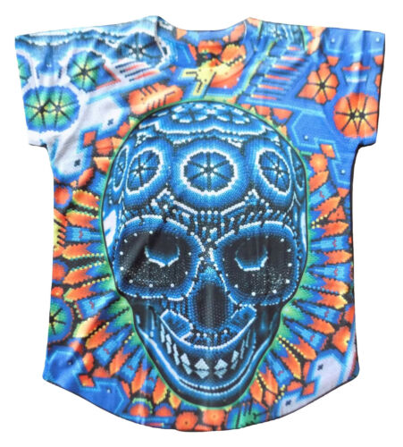 Details about  /Womens Mexican Skull T-Shirt Medium Large XL Short Sleeve Bohemian Graphic Tee