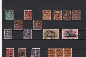 memel mounted mint and used stamps  ref r11615
